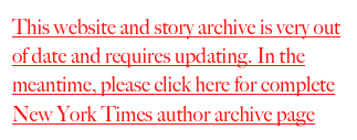Click here for complete New York Times author archive page